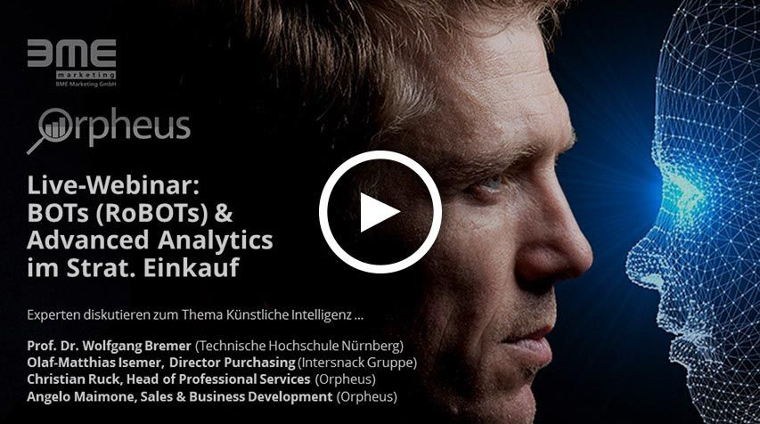 Live-Webinar: BOTs (RoBOTs) & Advanced Analytics in Strat. Procurement